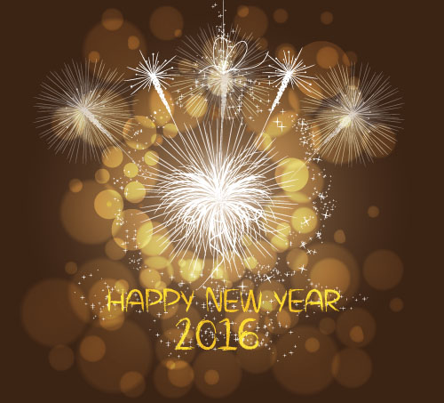 2016 new year with firework background vector 07 vector
