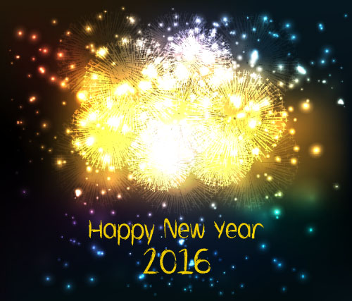 2016 new year with firework background vector 10 vector