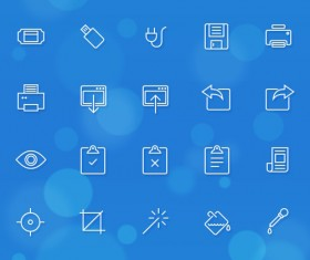 280 line icons IOS7 app material