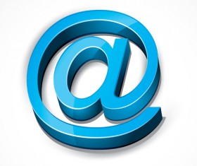 3D email symbol icon