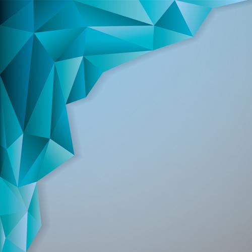 3D geometric shape art background vectors set 02 - Vector ...