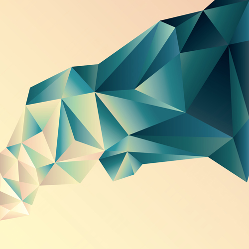 Shape Art : D geometric shape art background vectors set vector
