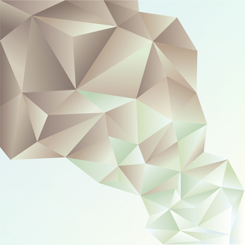 3D geometric shape art background vectors set 05 - Vector ...