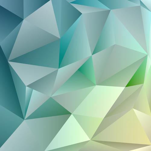 3D geometric shape art background vectors set 10 - Vector ...