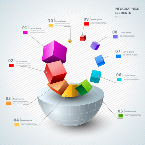 3d infographic modern template vector 03 free download for 3d design online