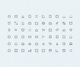 60 Kind web small fine icons set
