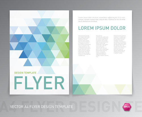 A4 flyer design template vectors material 01 - Vector Other free ...