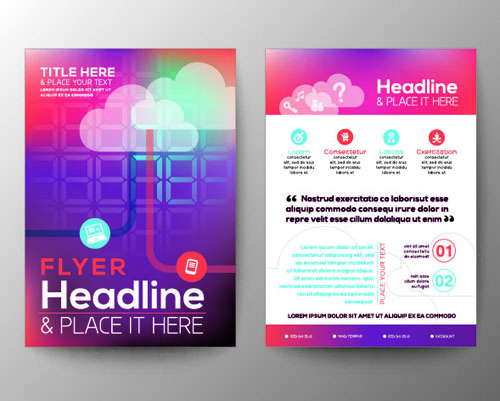 A4 Flyer Design Template Vectors Material 02 Free Download