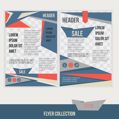 A4 flyer design template vectors material 04 - Vector Other free ...