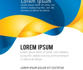 Abstract brochure business template vector 03