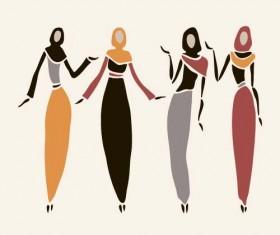 African woman design vectors 01