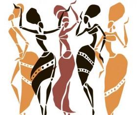 African woman design vectors 02