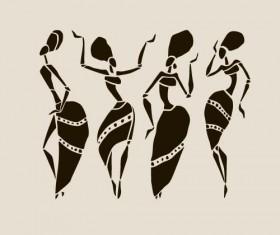 African woman design vectors 03