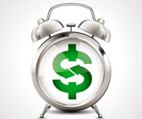 Alarm clock with financial vector