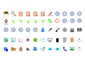 App colored vector icons