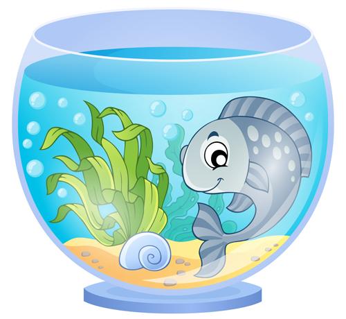 Cartoon Tropical Fish Tank