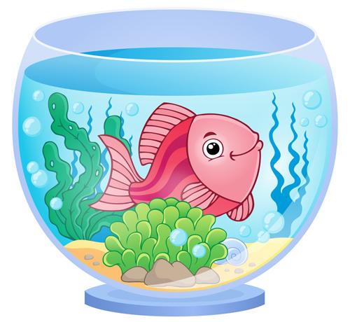 aquarium with fish cartoon vector set 09 free download rh freedesignfile com fish tank cartoon show fish tank cartoon images