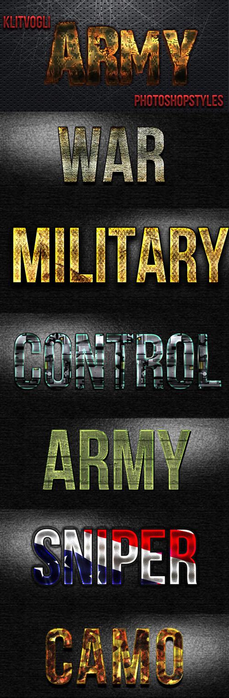 Army Photoshop Styles