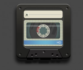 Audio tape icon