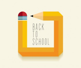 Back to school pencil creative template vector 05
