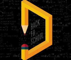 Back to school pencil creative template vector 09