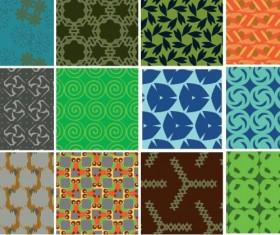 Seamless tile pattern vector set