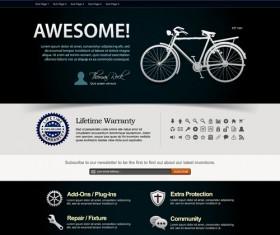 Bike website template vector material 01