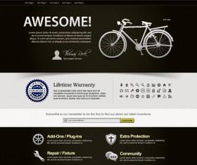 Bike website template vector material 02