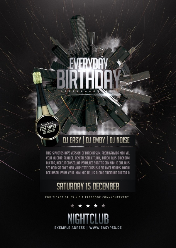 Birthday Party Creative Psd Template