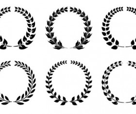 Black laurels illustration vector
