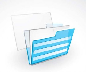 Blue folder icon vectors