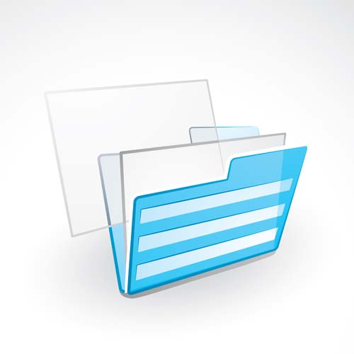 Blue folder icon vectors