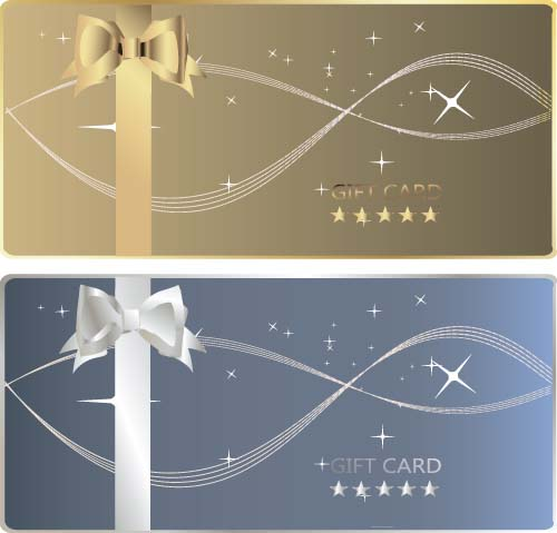 Bow Gift Card With Abstract Background Vector 03 Free Download