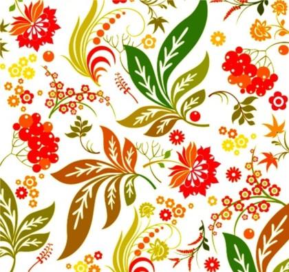 Brilliant flower design pattern seamless vectors