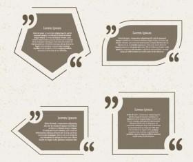 Business text box vector design 04