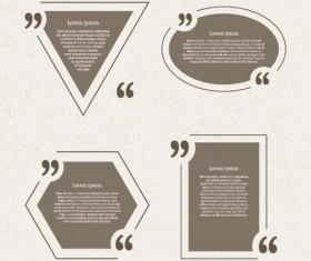 Business text box vector design 05