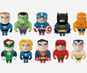 Cartoon Hero vector set