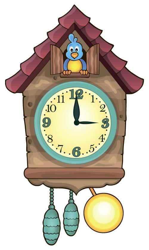 Cartoon Clock Baby Design Vector 04 Vector Cartoon Free
