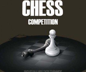 Chess competition art background vector