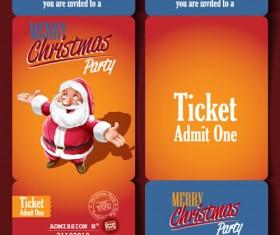Christmas party ticket retro vector