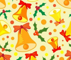 Christmas bell ornament elements pattern vector