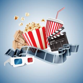 Cinema Movie Vector Background Graphics