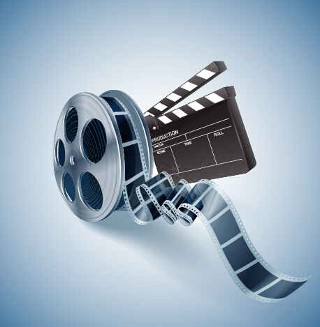 Cinema movie vector background graphics 09 free download