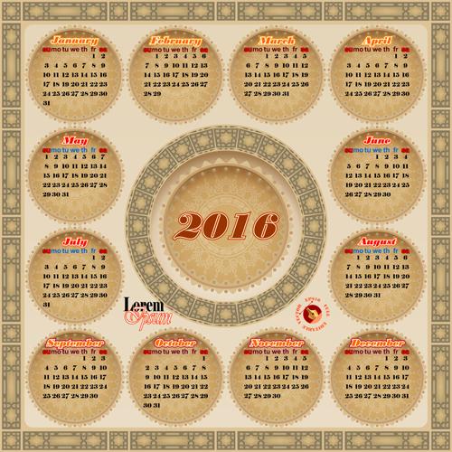 Calendar Vintage Vector : Vintage calendars gallery
