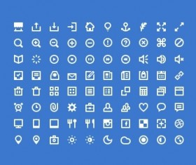 Classic computer Icons set