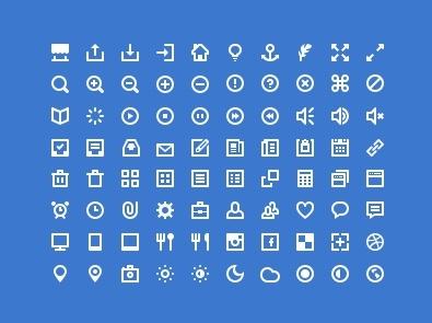 Classic computer Icons set