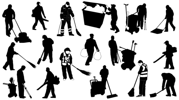 Cleaners Silhouetter Material Vector And Photoshop Shapes