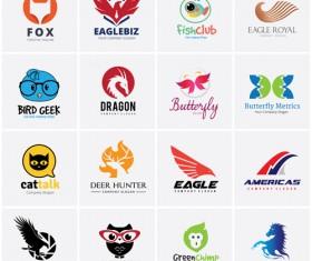 Colored animal logos vector material 01