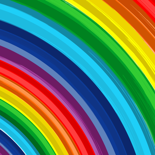 Colorful Rainbow Backgrounds vector graphics