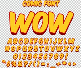 Comic styles alphabet with numbers and symbol vector set 03